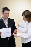 two unemployed people Royalty Free Stock Photography