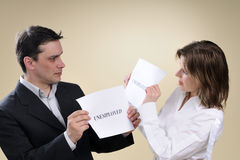 Two unemployed people sharing same situation Royalty Free Stock Photography