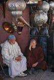 Street seller in Marrakech market - Morocco Royalty Free Stock Photos
