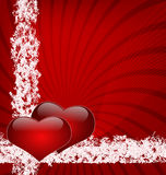 Two united hearts. A valentin´s day , valentine Stock Image