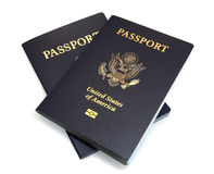 Two United States Passports isolated on White Royalty Free Stock Images
