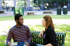 Two University students Stock Images
