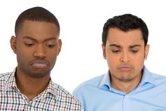 Two upset men Royalty Free Stock Photo