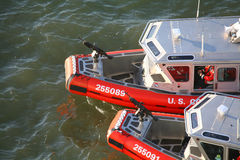 Two US Coast Guard powerboats Stock Photos