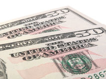 Two 50 US dollar notes Stock Photos