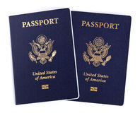 Isolated American Passports Stock Image