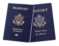 Isolated American Passports Stock Photography