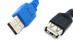 Two USB cables Royalty Free Stock Photo