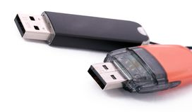 Two usb data storage devices Stock Images
