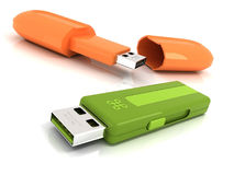 Two USB Flash Drive Stock Photos