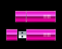 Two USB Flash Drives Royalty Free Stock Photos