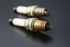 Two used sparkplug Stock Photo