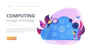 Big data concept vector illustration. Stock Image