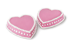 Two valentine cakes Stock Photos