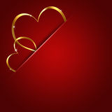 Two Valentine Hearts Royalty Free Stock Images