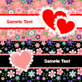 Two Valentine`s day cards Stock Images