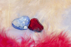 Two valentine's day glass heart Royalty Free Stock Photos