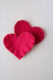 Two valentine's day hearts Stock Photo