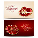 Two Valentines cards Stock Photos
