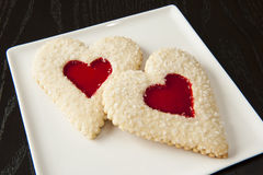 Two Valentines Cookies Stock Photo