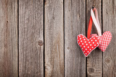 Two Valentines day hearts royalty free stock images