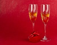 Two valentines goblets Royalty Free Stock Images