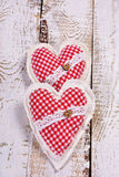 Two valentines hearts Royalty Free Stock Photo