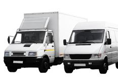 Two vans Royalty Free Stock Photography