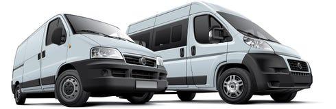 Two vans Stock Photo