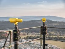 Vantage point at Szczeliniec, Table Mountains, Poland royalty free stock images