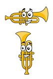Two variations of a cartoon trumpet Stock Photo