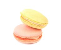 Two various macaron cakes. Close up. Stock Image