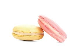 Two various macaron cakes. Stock Photo