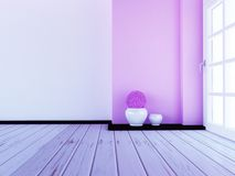 Two vases on the floor, 3d. Rendering Royalty Free Stock Images