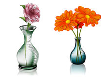 Two vases with flowers Royalty Free Stock Images
