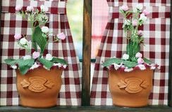 Two vases with flowers Stock Photo