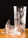Two vases, one is broken Stock Photo