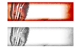 Two vector abstract banner Stock Images