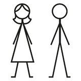 Two Vector Icons. Male and Female Gender Signs. Royalty Free Stock Images