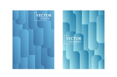 Two vector flyer templates in blue color with gradient effect. vector illustration