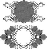 Two Vector Frames Ornament Elements Royalty Free Stock Photo