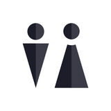 Two Vector Icons. Male and Female Gender Signs. Royalty Free Stock Photos