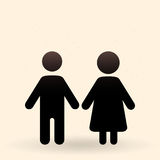 Two Vector Icons. Male and Female Gender Signs. Stock Photography