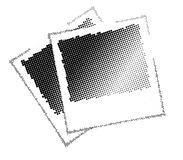 Two vector image with black dots Royalty Free Stock Image