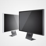 Two vector LCD tv Royalty Free Stock Photography