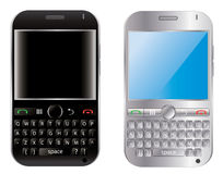 Two vector mobile cellphone Stock Photo