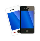 Two vector mobile phones Stock Images