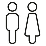 Two Vector Icons. Male and Female Gender Signs. Stock Photos