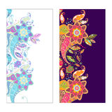 Two vector Paisley covers or stickers on phone Royalty Free Stock Image