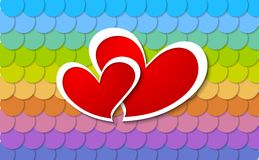 Two vector paper hearts design Stock Photo